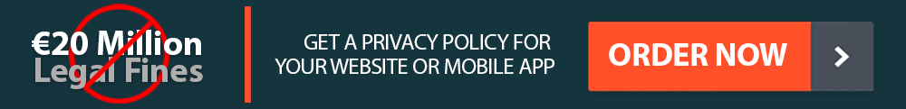 A banner, offering to purchase a Privacy Policy