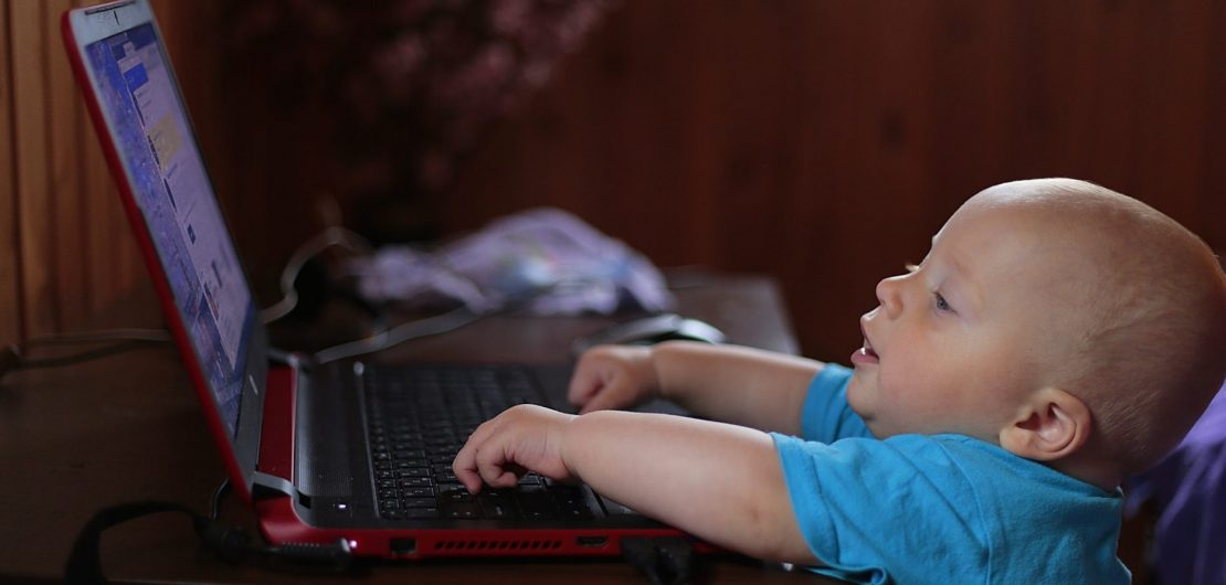 child browsing the internet